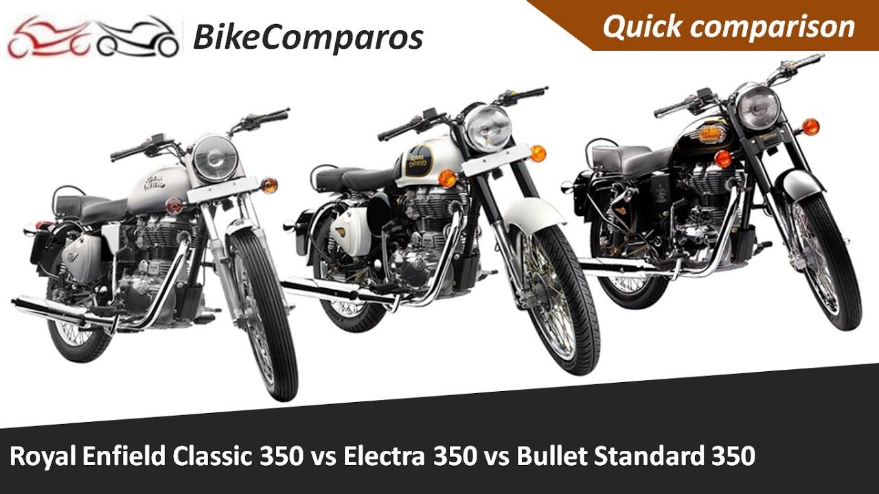 Royal Enfield Classic 350 Vs Electra 350 Vs Bullet Standard 350