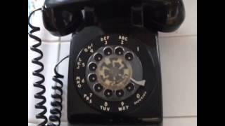 Rotary-dial phone ringing