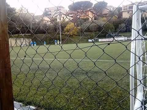 Questo e' il campo da calcio del Monteporzio Catone durante l'intervallo del 1' tempo