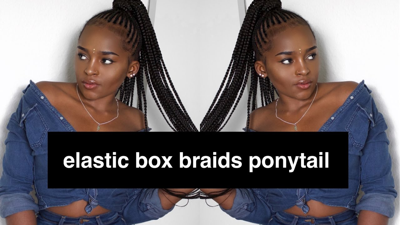 Easy Cornrows Ponytail П��🏽 Inspired By Nicki Minaj Youtube