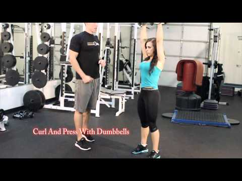 Curl and Press with DB with Fitnes Model