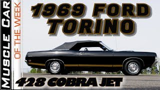 1969 Ford Torino 428 Cobra Jet 4-Speed Convertible - Muscle Car Of The Week Video Episode 340