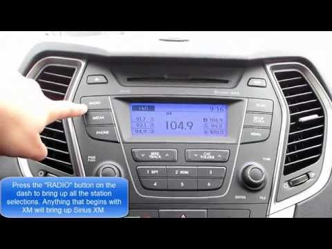 How To Set Sirius Xm Pre Sets In Your Hyundai Santa Fe