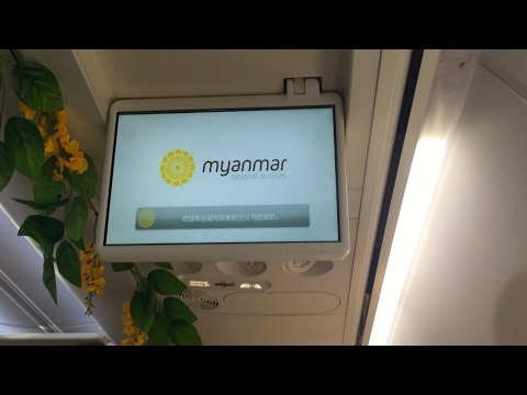 Myanmar National Airlines Safety Video - Burmese & English