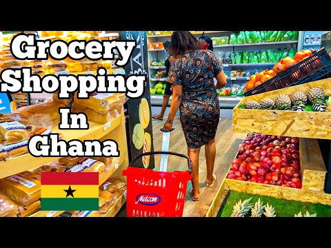 GROCERY SHOPPING IN ACCRA, GHANA + STREET FOODS | Ohhyesafrica