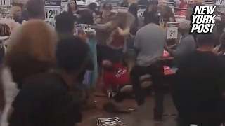 At this Wal-mart brawl, prices and bodies were dropping