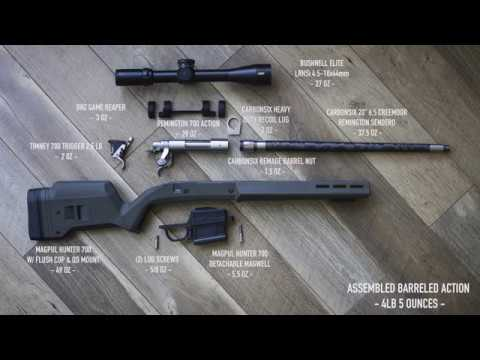 Remington 700 + Remage Carbon Barrel + 6.5 Creedmoor + Magpul Hunter 700 Build