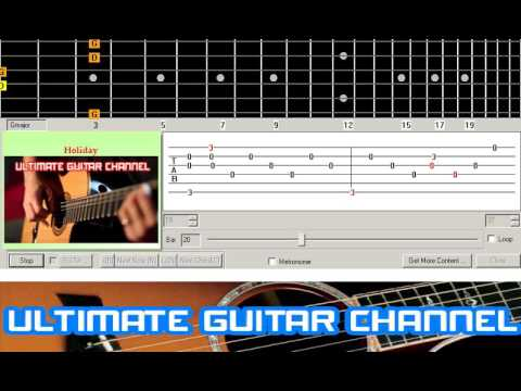 [Guitar Solo Tab] Holiday (Scorpions)
