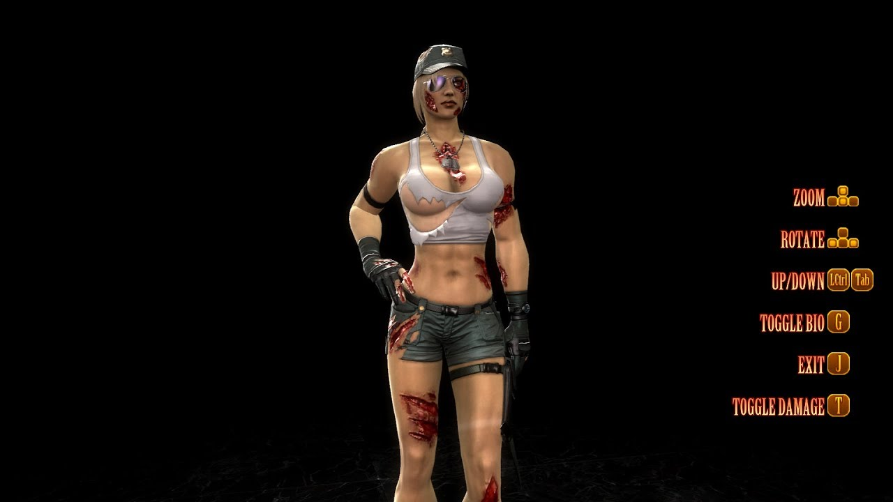 Mortal Kombat 9 Fatalities On Sonya Blade Alternate Costume