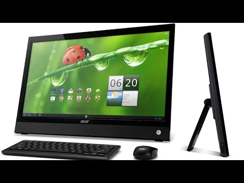 Acer DA220HQL 21.5 Inch Android All In One Touchscreen Desktop PC With 8 GB SSD and 1 GB SDRAM