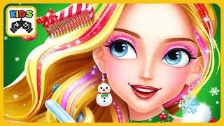 Новогодний салон красоты * игра для девочек на Рождество * Christmas Hair Salon by Libii