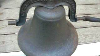 """Antique 16"""" diameter C.S. Bell Co No 2 Cast Iron Bell FOR SALE!!"""