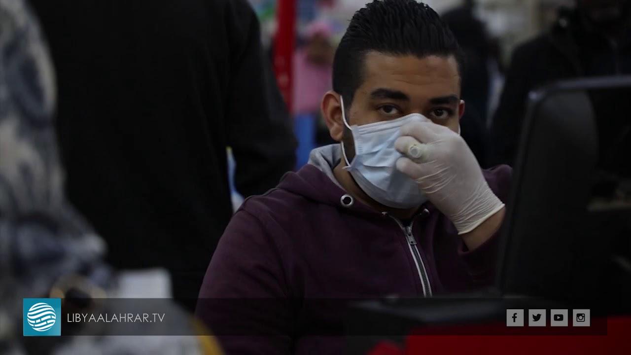 إقبال المواطنين على أسواق الغذائية خوفا من فايروس كورونا