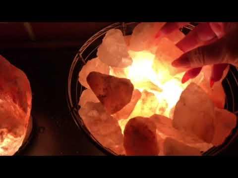 No Talking ASMR - Relaxing Tapping & Scratching Sounds On Pink Himalayan Salt Lamps