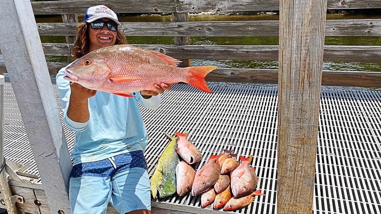 Snapper and Dolphin CATCH and COOK (Bottom Fishing)