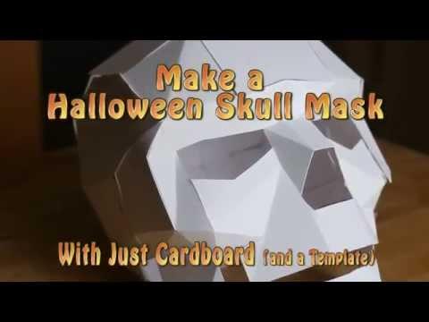 Papercraft Papercraft Skull Halloween Mask - Last Minute Halloween Costume 2015 1080p