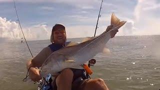 Kayak Fishing for Redfish, Gilchrist, TX - 2012