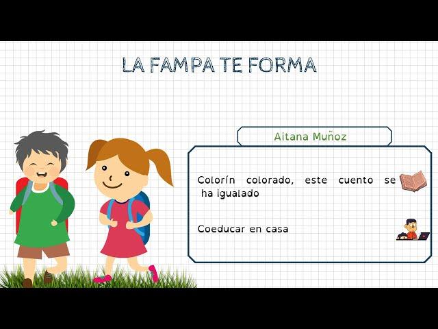 Formació FAMPA: Aitana Muñoz (Mestra i especialista en coeducació)
