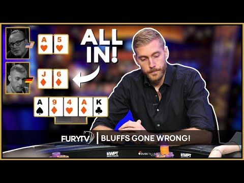 Six of the most Ridiculous Poker BLUFFS Gone WRONG!