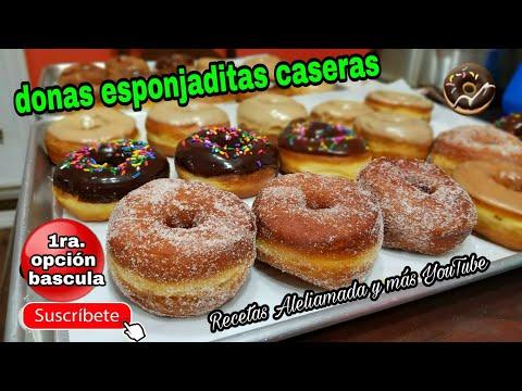 RECETA DE DONAS LAS MAS ESPONJADITAS DEL MUNDO 😁😉🍩/ receta con báscula.