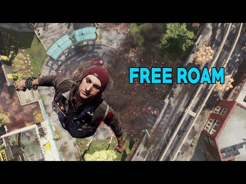 Infamous Second Son Good Karma | Free Roam | Neon