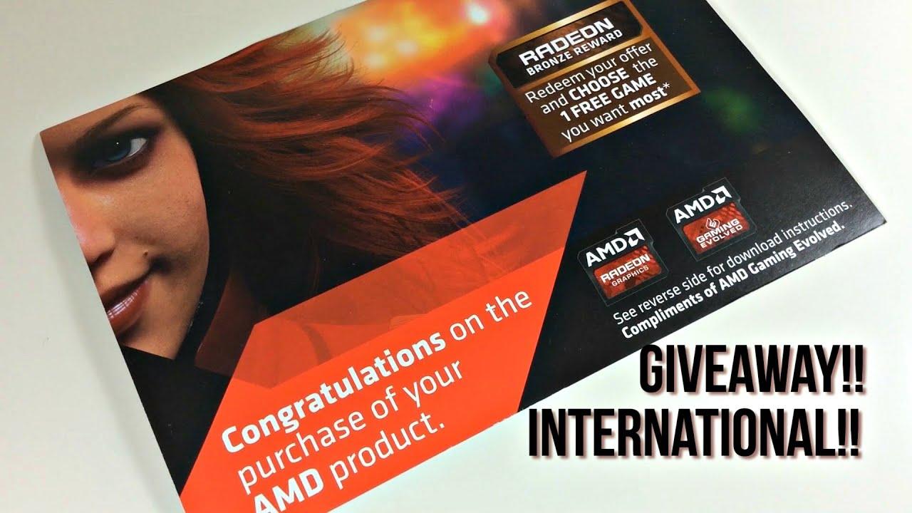 AMD Coupon Code GIVEAWAY!! Choose 1 Game!! *International*