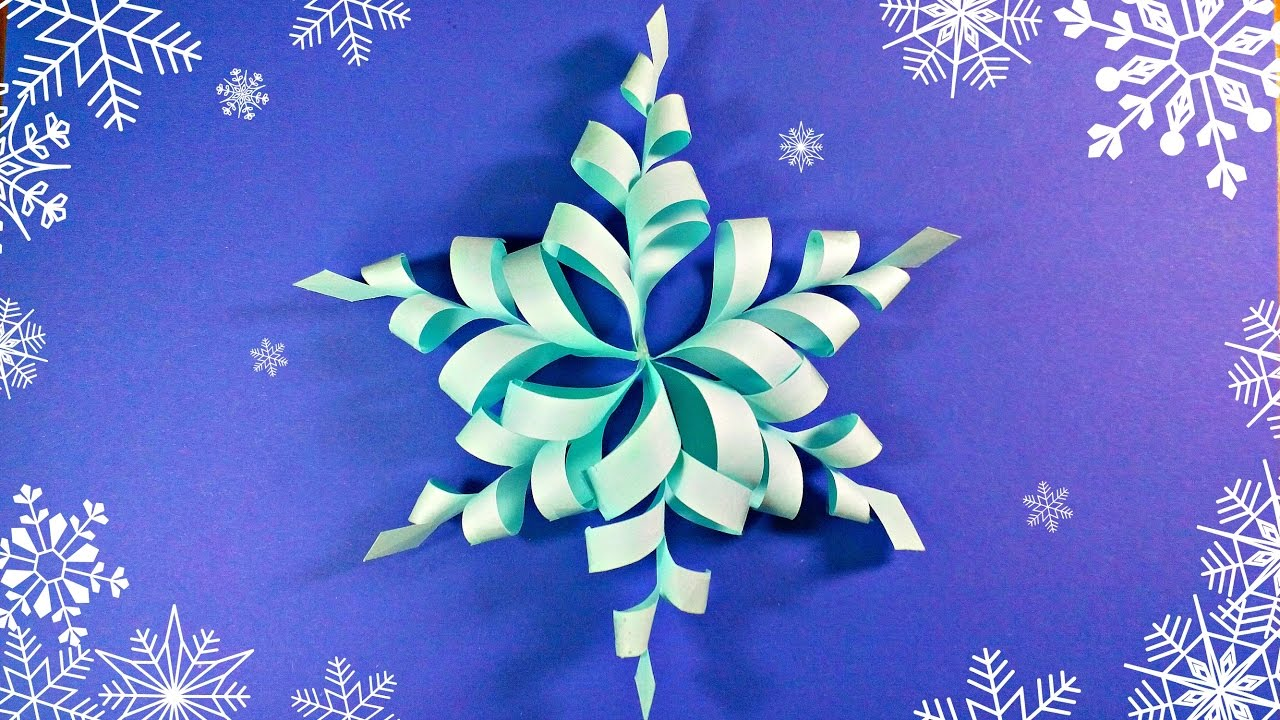 modular 3d origami snowflake frozen easy star paper diy paper snowflakes. Black Bedroom Furniture Sets. Home Design Ideas