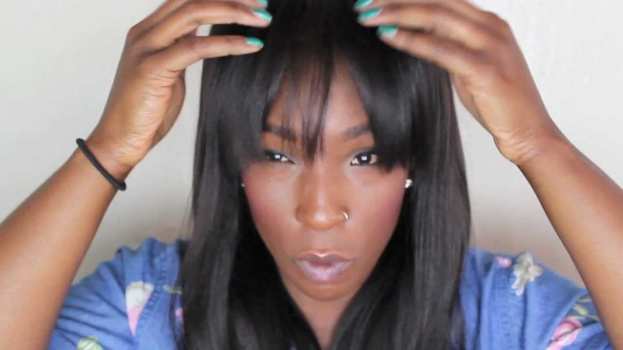 Straight Lace Front Wigs Bangs