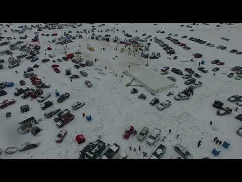 2018 Maple Lake Ice Fishing Derby Aerial