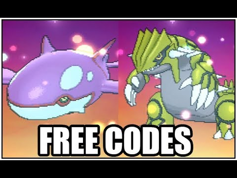 Obtaining Shiny Groudon And Shiny Kyogre Free Codes Youtube