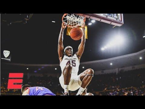 Arizona State shocks No. 1 Kansas with late-game rally | College Basketball Highlights