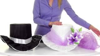 """Свадебное украшение на машину """"Шляпы"""""""