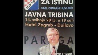 Dobroslav Paraga u Hotelu Zagreb, Split, 14.05.2015 - javna tribina