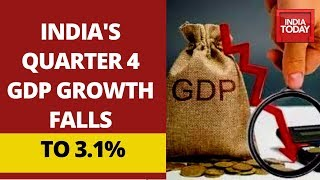 India's Q4 GDP Growth Falls To 3.1%; GDP For FY 2020 At 4.2%