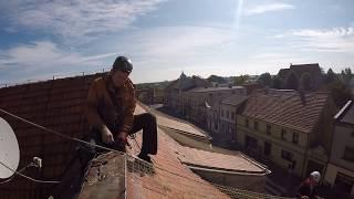Zabezpieczenie dachu przed gołębiami