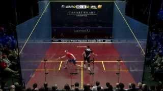 Squash  Canary Wharf Classic 2014 - SF Roundup pt2 - Barker v Willstrop