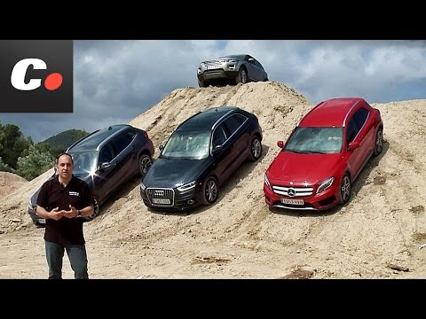 Mercedes-Benz GLA, Range Rover Evoque, Audi Q3, BMW X1 | Prueba SUV / crossover Premium | coches.net