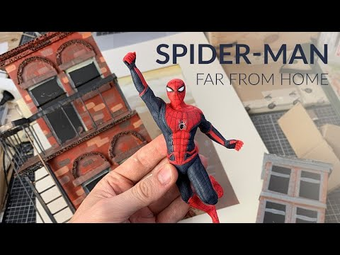 Swinging Spider-Man In A Frame (Spider-Man: Far From Home) – Polymer Clay