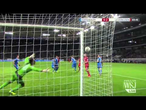 Bizarre soccer goal in german bundesliga
