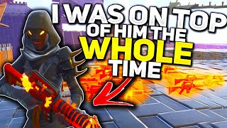 I was on top of him the WHOLE time... 😂 (Scammer Gets Scammed) In Fortnite Save The World