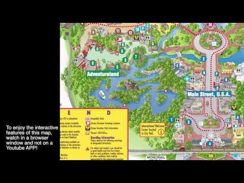 Disneyworld clickable Magic Kingdom Video Map!