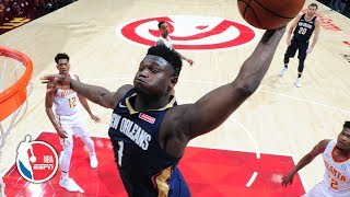 Zion hammers home 3 dunks, drops 16 points in NBA debut | New Orleans Pelicans | 2019 NBA Highlights