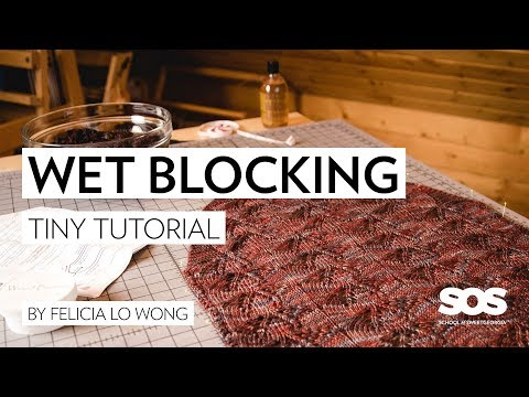 Learn to Wet Block your Knitting // tiny tutorial