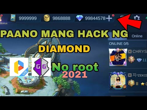How To Hack Diamond,Battle Points, Ticket To 9999999 Using GameGuardian in Mobile legends | No root