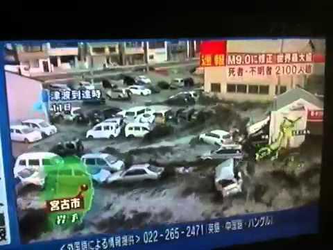 Massive tsunami engulfs Iwate Prefecture (2011-03-11)