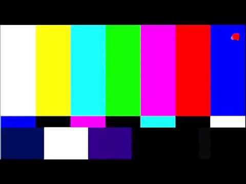 Футаж для переходов  Помехи телевизора  Цветные полосы 1