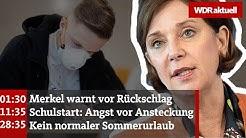 NRW-Schulministerin Gebauer über Ansteckungsgefahr und Abschlussnoten | WDR Aktuelle Stunde