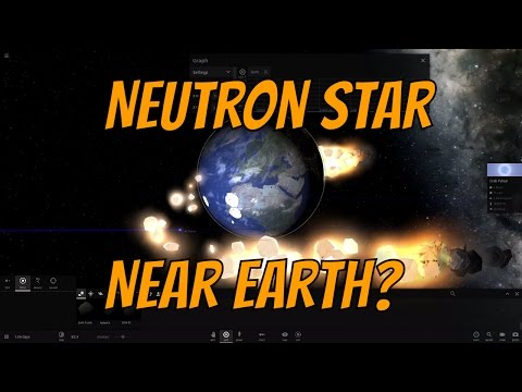 What Would Happen if Neutron Star Passed Near Earth? Universe Sandbox²