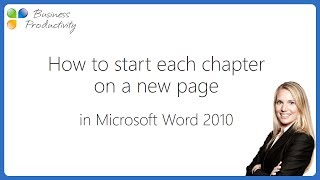 how to start a new page in Word - Insert Page Break in Word