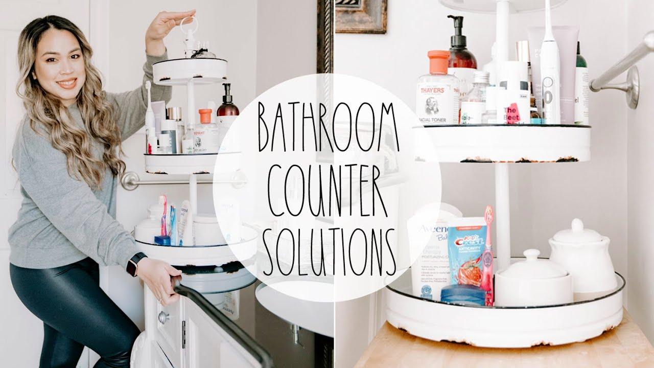 Bathroom Counter Organization Idea Youtube